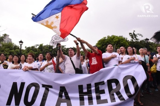 Anti-Marcos Burial Protest