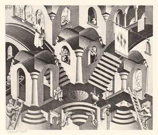 Convex and Concave by M.C. Escher